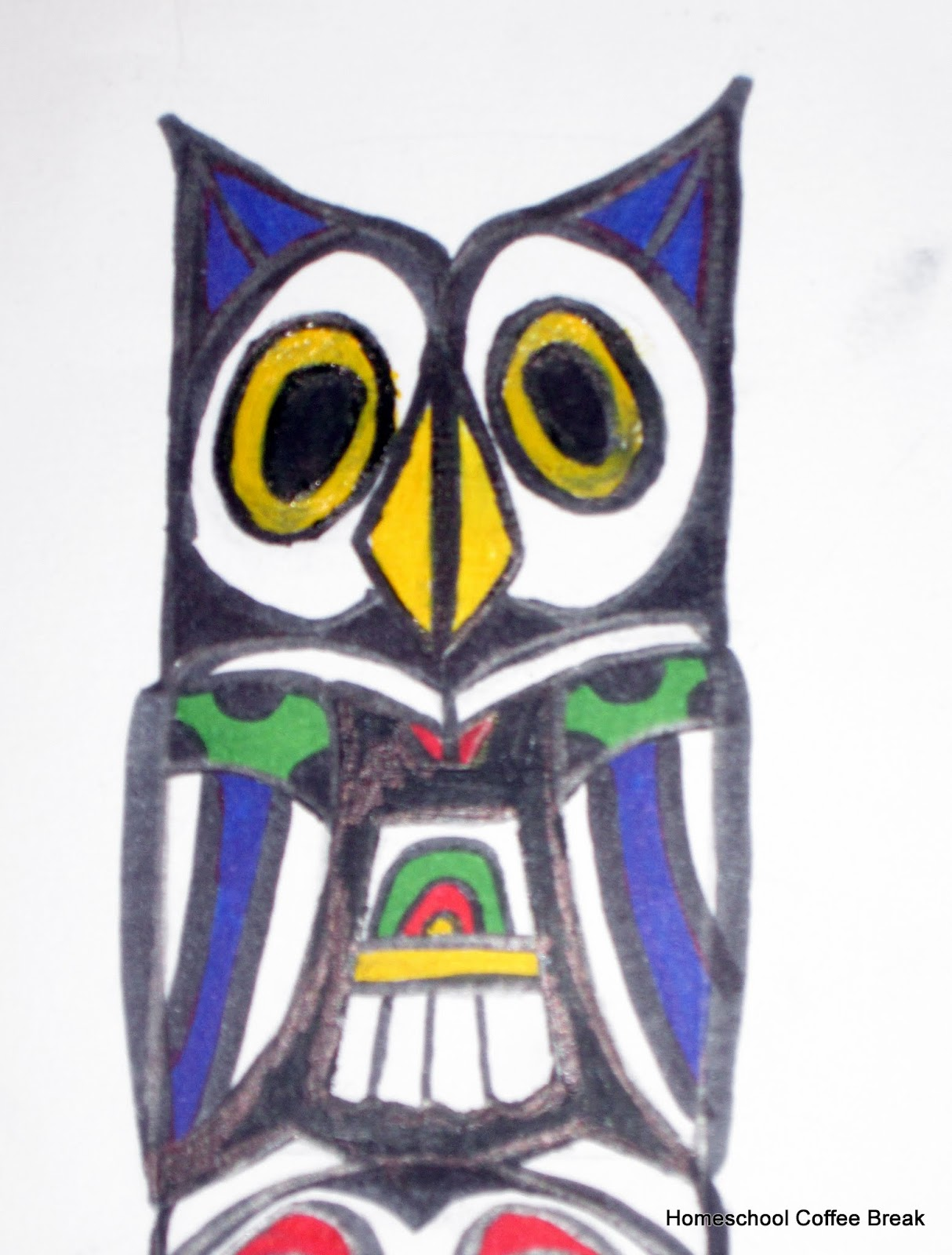 Homeschool coffee break owl on a pacific northwest totem pole owl on a pacific northwest totem pole blogging through the alphabet on homeschool coffee break biocorpaavc Images