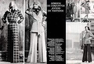 Moda anos 70. História década 70. moda feminina anos 70. propaganda moda 1973