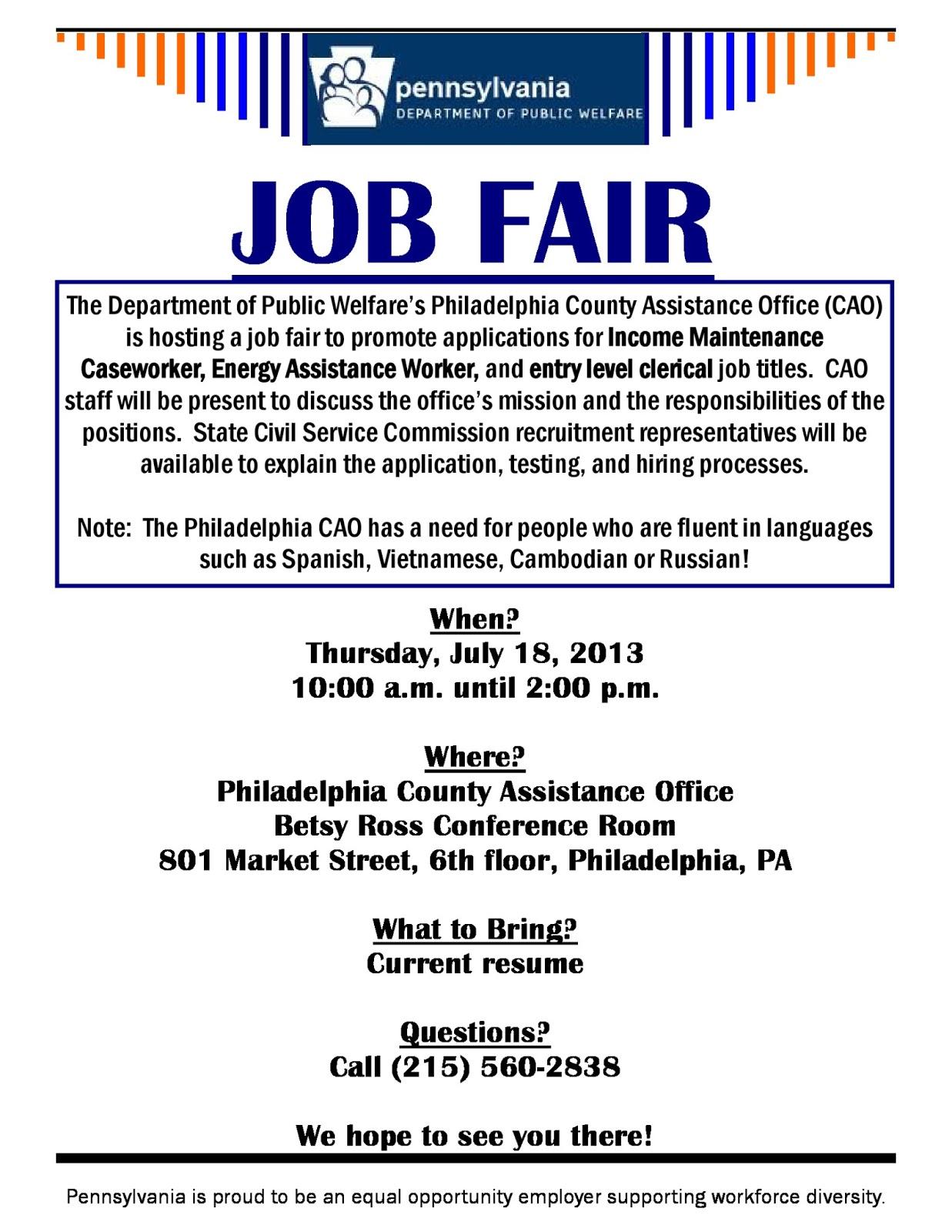 fresh start outreach ministry job fair department of public