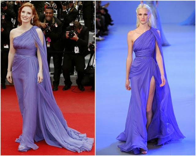 Jessica Chastain in Elie Saab Couture – 'Foxcatcher' Cannes Film Festival Premiere