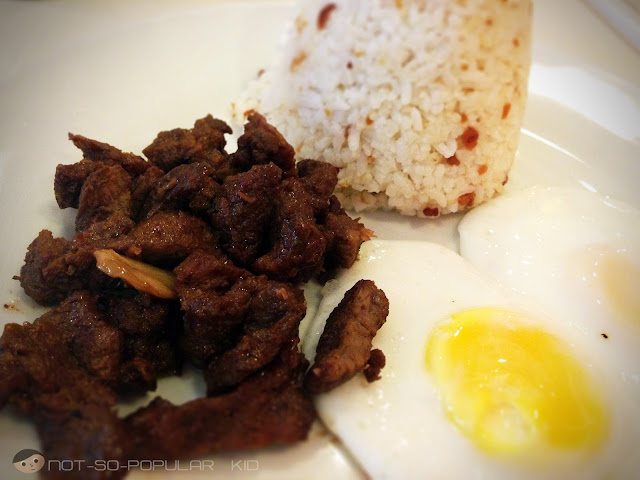 Tapsilog at RAP Steaks and Cakes