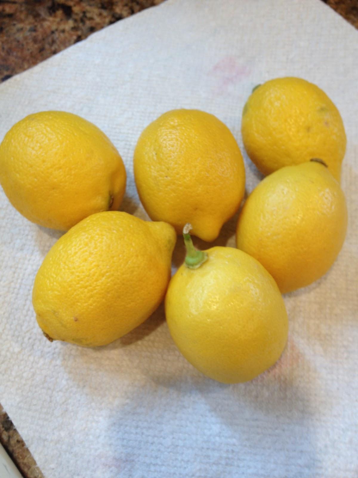 How Wash Lemons Zesting