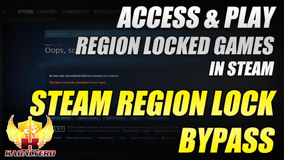 STEAM Region Lock Bypass - Access & Play Region Locked Games In STEAM