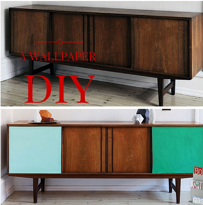 A Credenza DIY using Wallpaper - design addict mom