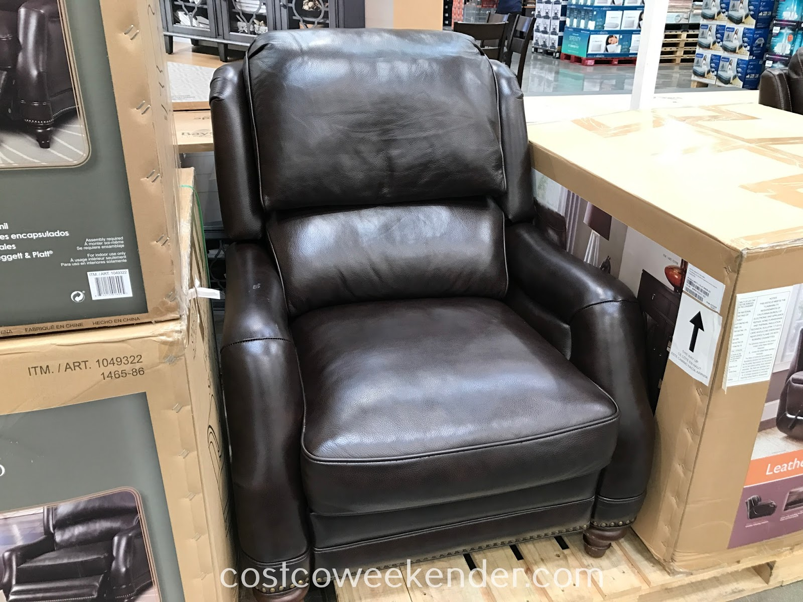Synergy Recliner Chair Electric Swing Home Furnishings Leather   Costco Weekender