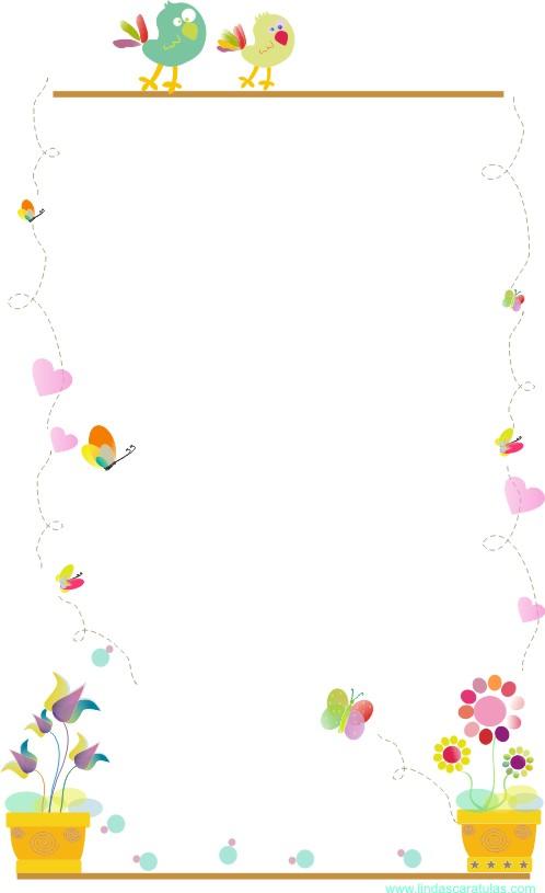 Caratulas para word caratulas bordes de colores for Bordes creativos