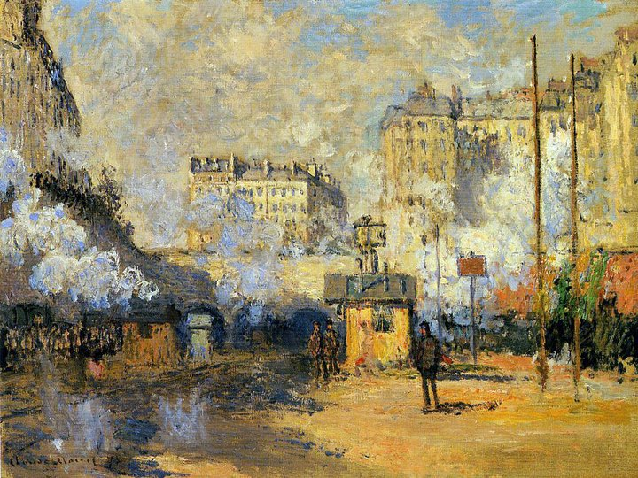 Claude Monet 1840-1926 | La Gare St Lazare, Parigi 1877