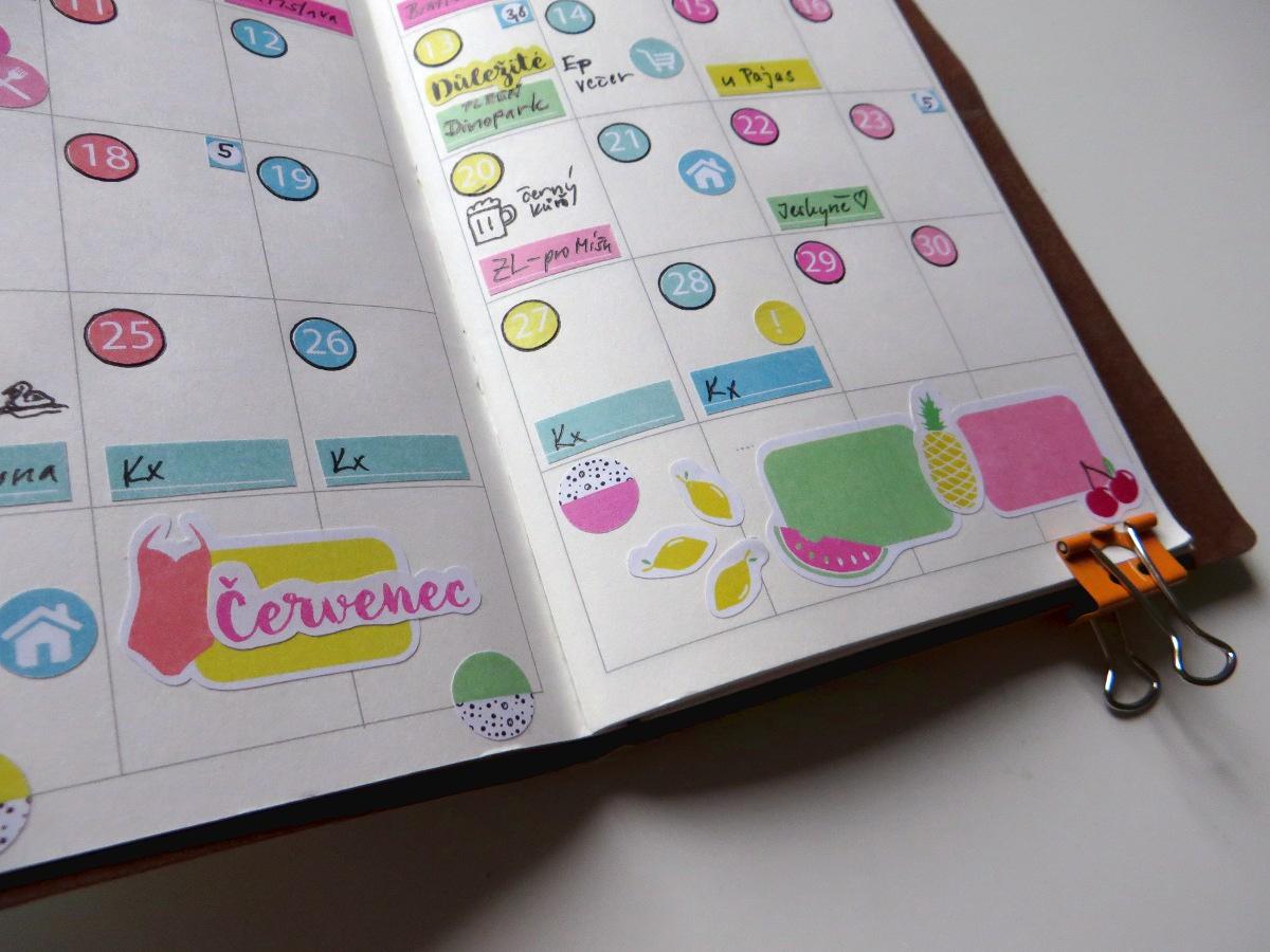 Traveller´s notebook se samolepkami fleppi