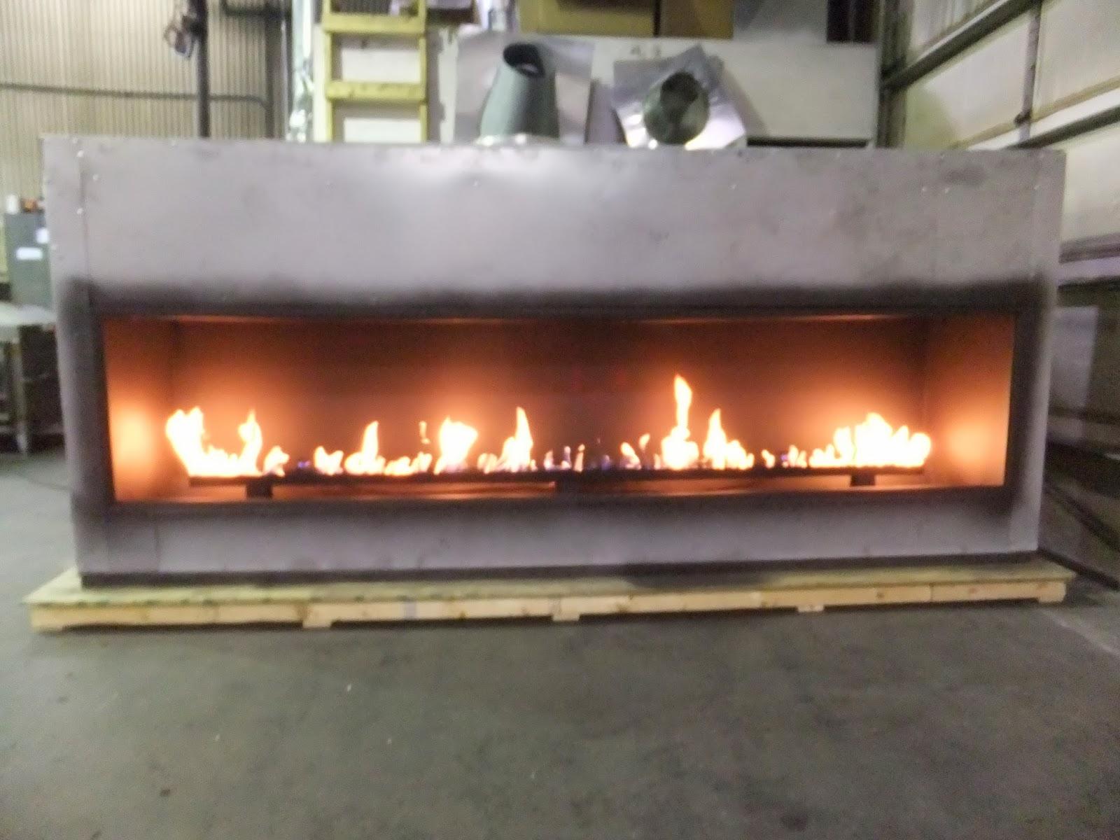 Acucraft Fireplaces Linear Gas Fireplace  Blaze 10