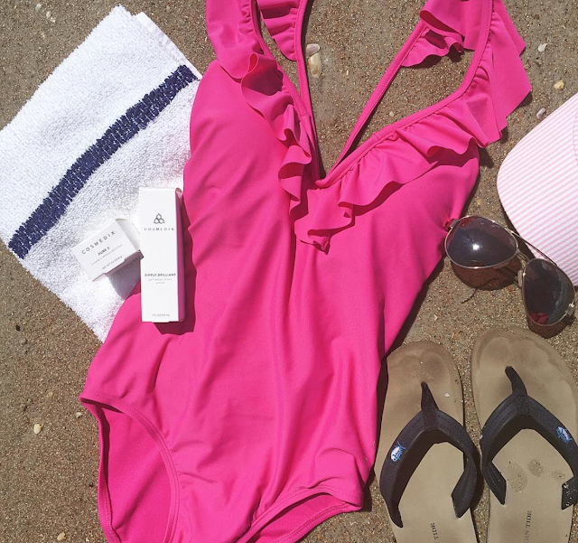 Pink Ruffled Swimsuit for women