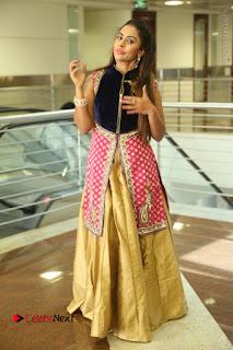 Telugu Actress Sri Reddy Mallidi Stills in White Beautiful Dress at Marriage Needs Bridal Fashion Week 2017 Logo Launch  0177.JPG