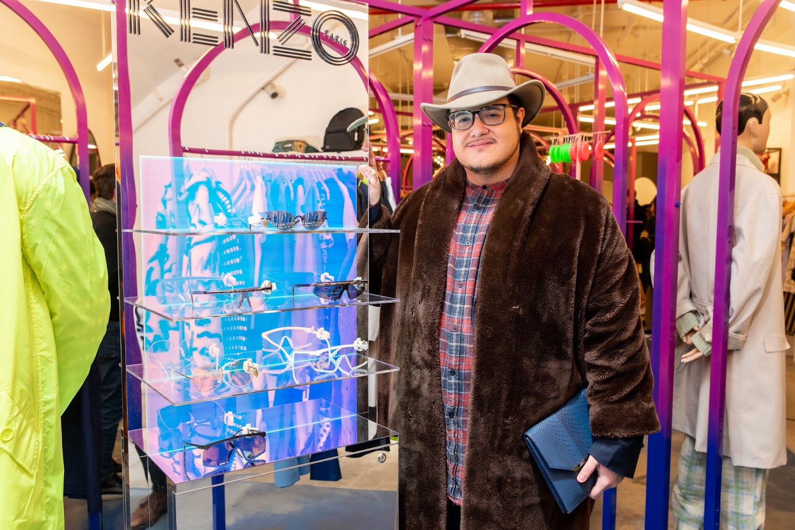 9ec74ac1 OJ&B Stops By Opening Ceremony For Kenzo's SS19 Eyewear Collection Launch