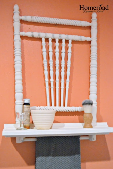 Antique Chair Back Shelf