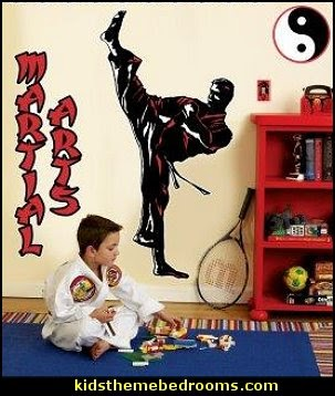 martial arts theme bedrooms - Karate bedroom ideas - Martial Arts bedroom decor - Martial Arts Bedding - Kung Fu Fighting - Oriental style decorating Asian themed - taekwondo