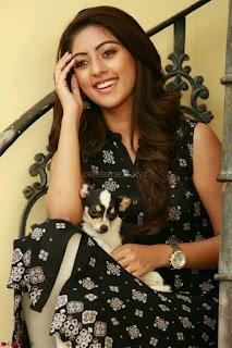 Anu Emmanuel with her pet dog cute pics 8