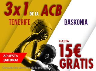 suertia promocion Tenerife vs Baskonia 15 diciembre
