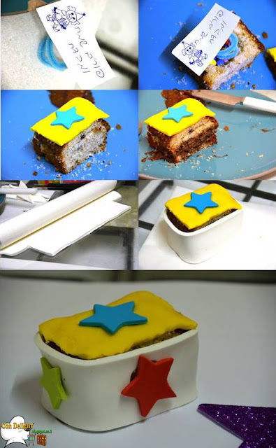 surprise cake box step by step