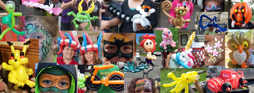 the best balloon twisters and best face painters in the Bay Area and NE Ohio