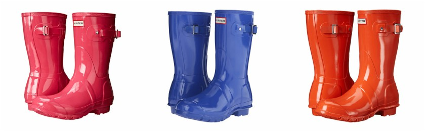 Hunter Original Short Gloss Boots for only $85 (reg $140) + free shipping
