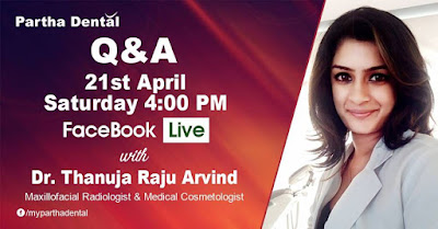 Partha Dental Facebook Live with Dr.Thanuja Raju Arvind