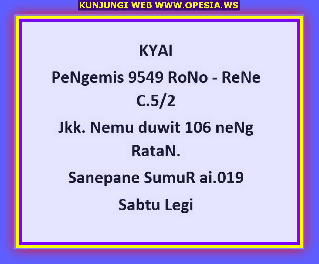 Syair sgp Sabtu 28 September 2019 6