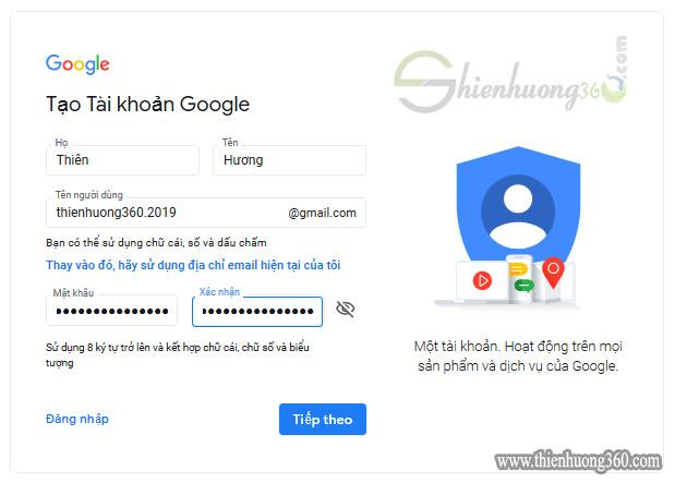Đăng ký Gmail - Cách tạo tài khoản Google mới