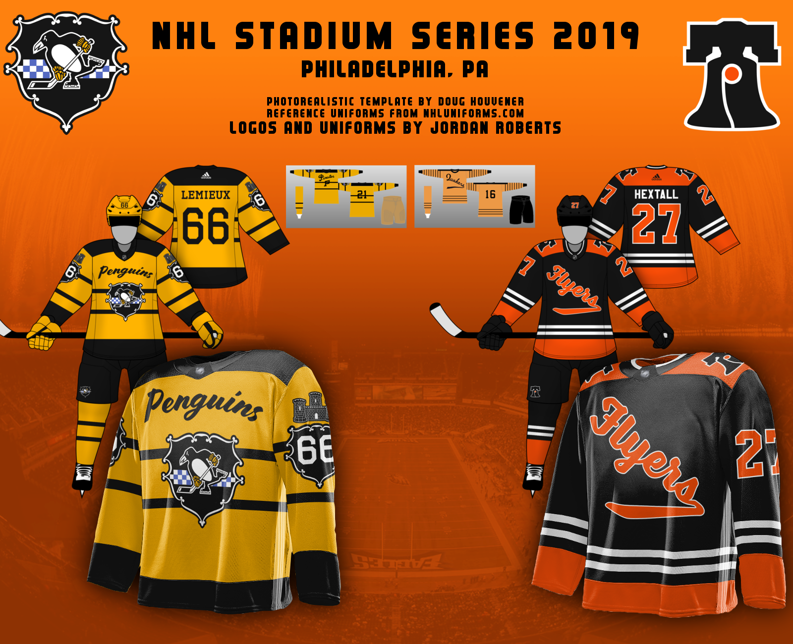 46e982c3519 Jordan R- 2019 Stadium Series. Positives: Out of the two jerseys, I feel  like you put more time into the Penguins jersey when it came to creativity  but both ...