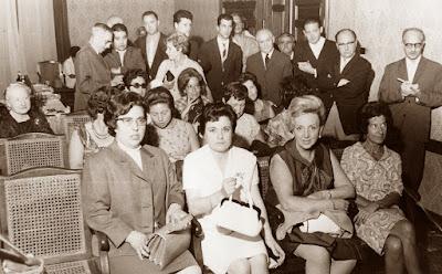 IX Campeonato de España Femenino 1965, recepción en la Sala de Plens del Ayuntamiento de Arenys de Mar