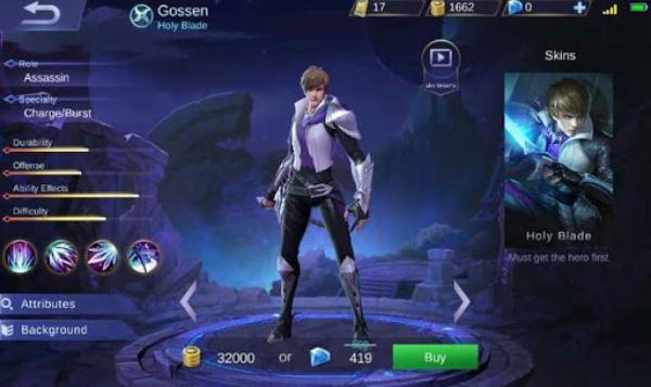 Mobile Legends kedatangan pahlawan gres Gossen yang akan menjadi tentangan Hayabusa dan Lancelot Hero Baru Gossen Mobile Legends Si Holy Blade Assassin Berdarah Dingin