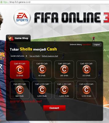 Cara Tukar Shell Fifa Online 3 Indonesia
