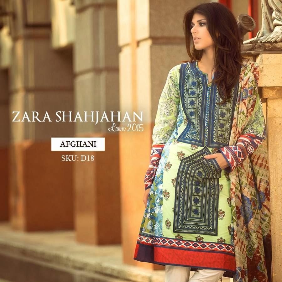 Zara Shahjahan Lawn 2015