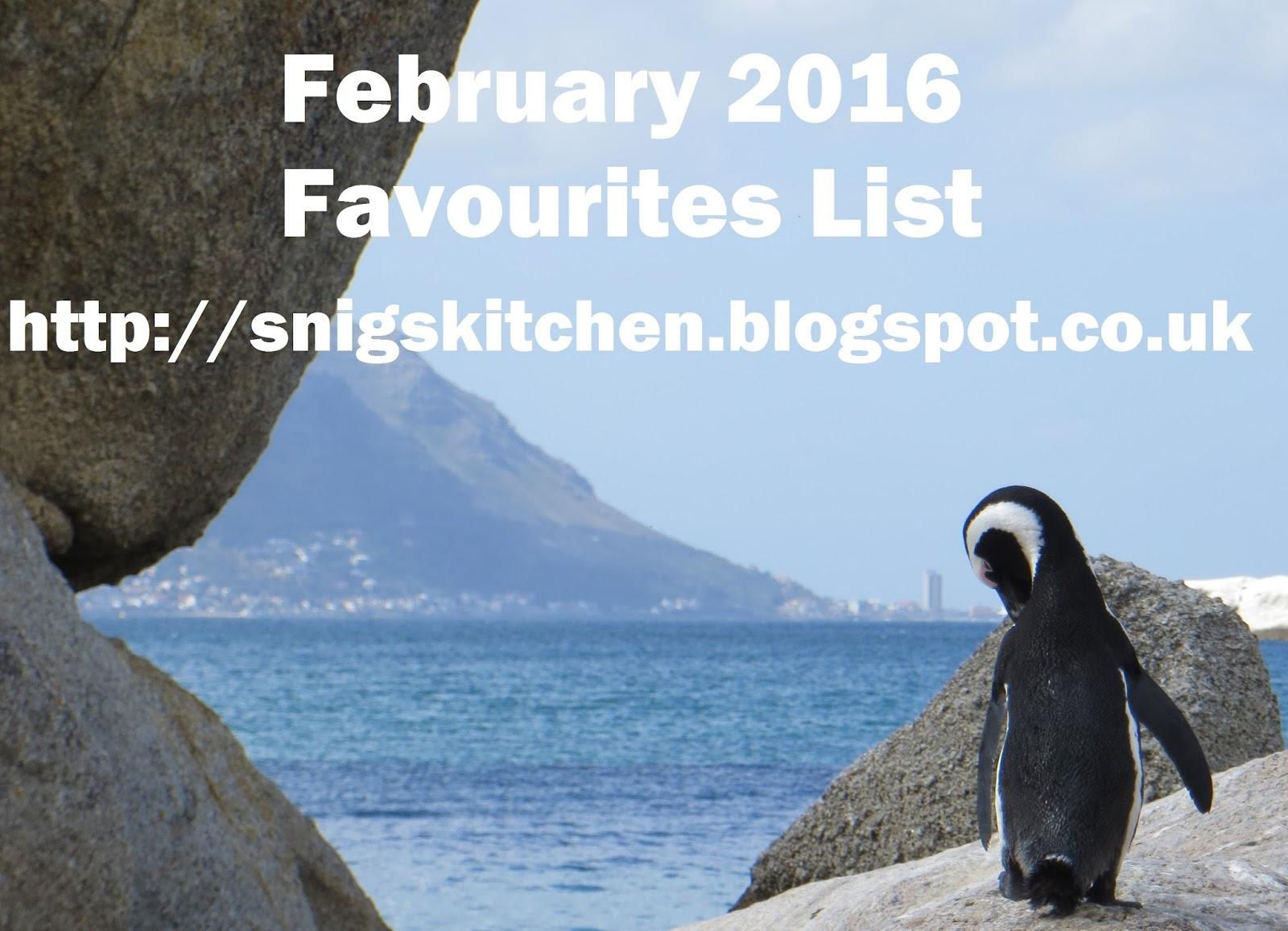 Snig\'s Kitchen: February 2016