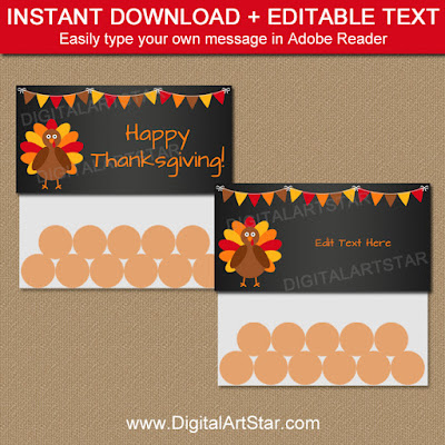 thanksgiving chalkboard bag toppers by digital art star
