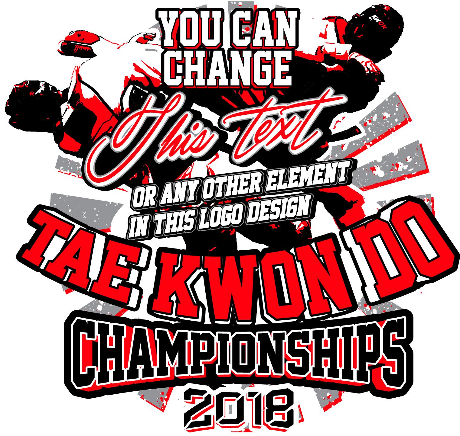 6bbf1ba3a T-shirt logo design creative ideas: TAEKWONDO CHAMPIONSHIPS 2018 ...