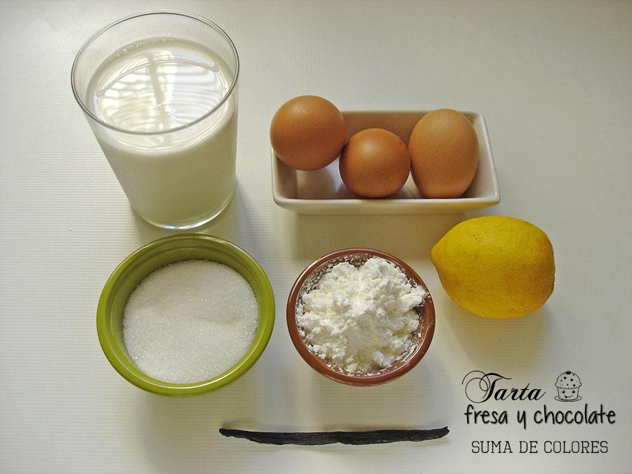 Tarta-fresa-chocolate-Ingredientes-crema