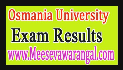 Osmania University Diploma in German /French Junior / Senior Nov 2016 Exam Results