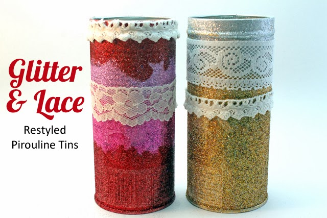 Make Valentine Glitter Tins out of empty @pirouline tins using this DIY by @punkprojects