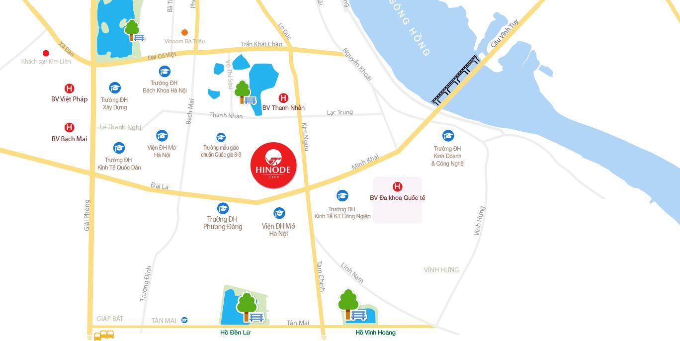 Map chung cư Hinode City