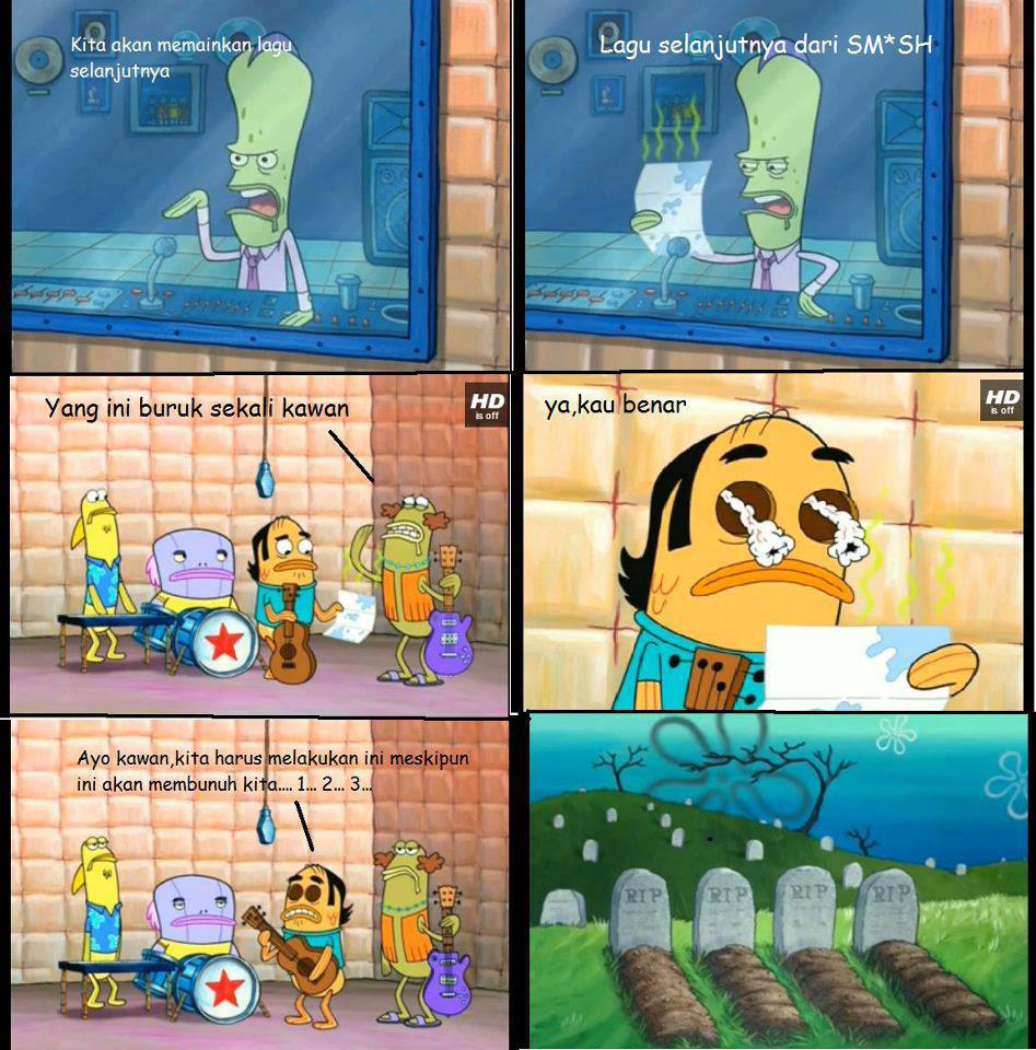 Akibat menyanyikan lagu smsh spongebob meme indonesia smi