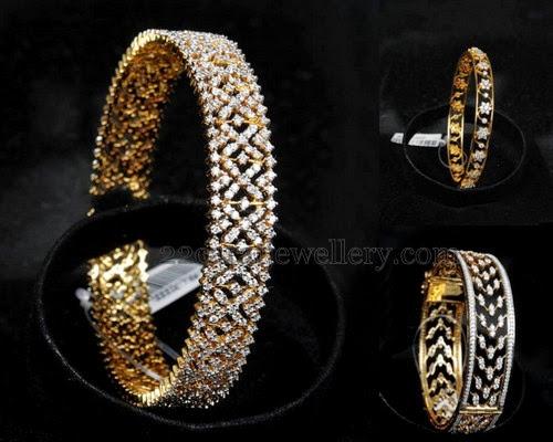 Diamond Bangles From Malabargold Jewellery Designs