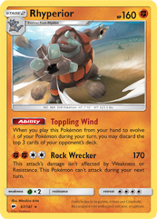 Rhyperior Burning Shadows Pokemon Card Review