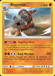 Rhyperior Burning Shadows Pokemon Card Review
