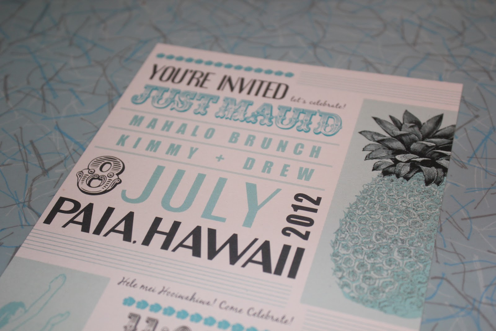 Day After Wedding Brunch Invitation: Tikilife: Reveal: Mahalo Brunch Invitation