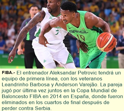 Liderado por Leandrinho, Brasil comienza a entrenar para los enfrentamientos clasificatorios contra