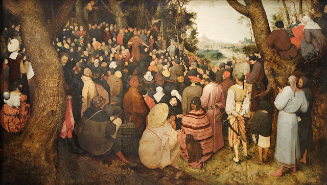 """The Preaching of St. John the Baptist""  Pieter Bruegl the Elder"