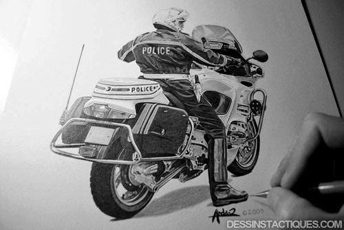 Dessinstactiques blog dessinstactiques dessin motard - Dessin de police ...