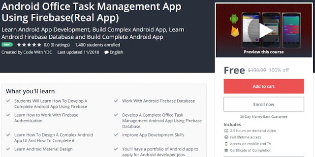 [100% Off] Android Office Task Management App Using Firebase(Real App)| Worth 199,99$