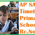 SA1 Examinations New Time Table for PS,UPS,HS In Andhra Pradesh State