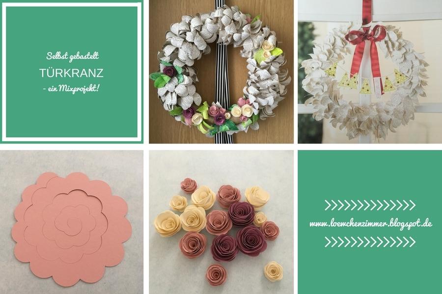 Pazzles Inspiration Vue, Spiralblumen, Blumen, Flowers, Türkranz, Projekt Kit, Stampin Up