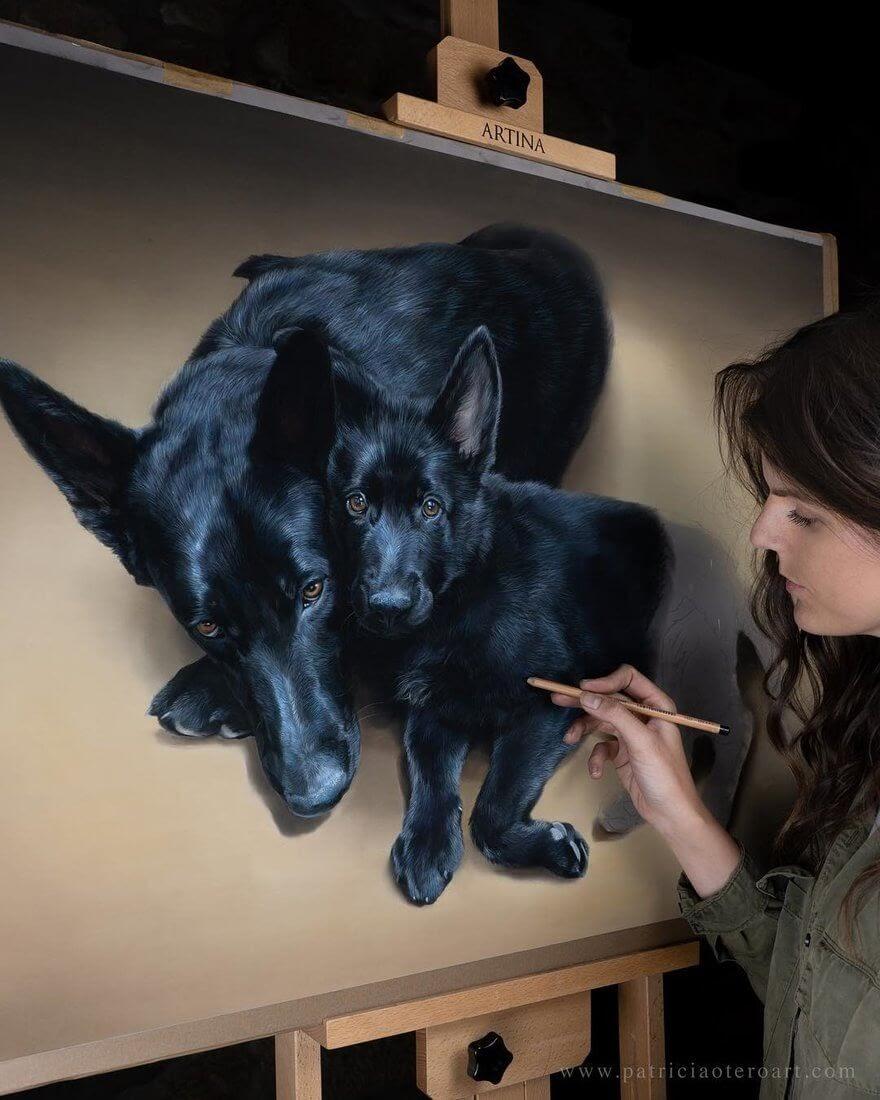 13-Zeus-and-Athena-Patricia-Otero-Cats-and-Dogs-Portrait-Artist-www-designstack-co